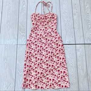 Vintage Betsey Johnson Rose Floral Print Sundress